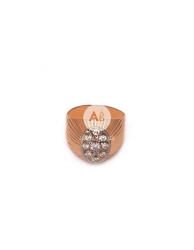 Auksinis žiedas su briliantais pardavimui internetu