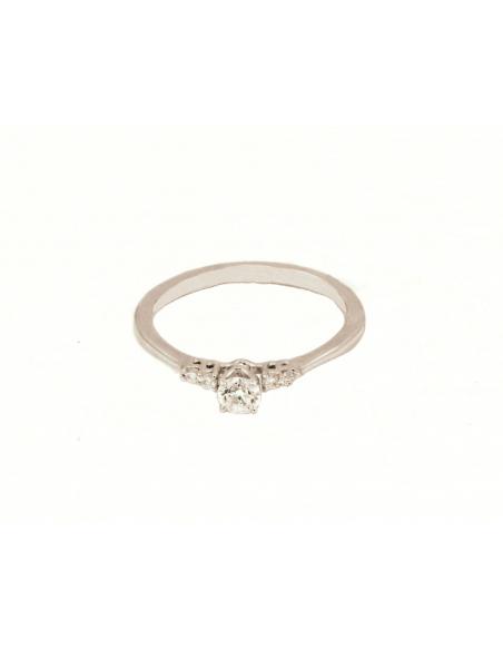 Balto aukso sužadėtuvių žiedas su briliantais pardavimui internetu