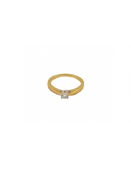 Raudono aukso sužadėtuvių žiedas su briliantu pardavimui internetu