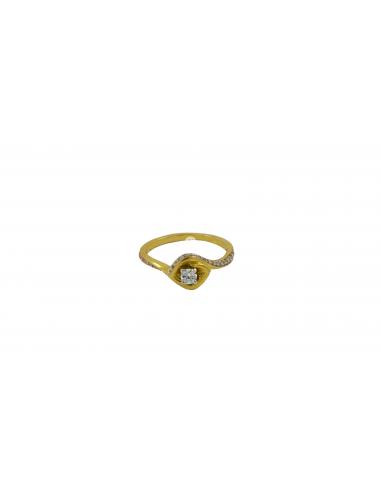 Geltono aukso sužadėtuvių žiedas su deimantais pardavimui internetu