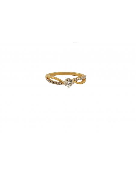 Raudono aukso sužadėtuvių žiedas su briliantais pardavimui internetu