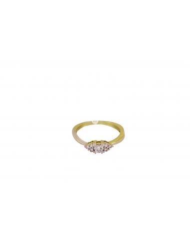 Geltono ir balto aukso sužadėtuvių žiedas su briliantais pardavimui internetu