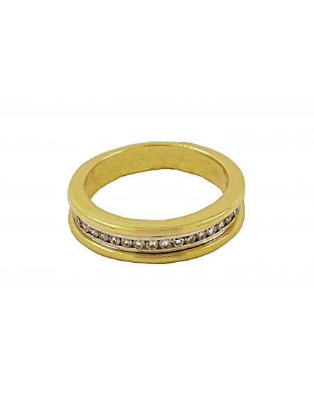 Geltono aukso žiedas su briliantais pardavimui internetu