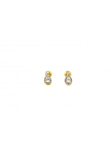 Auksiniai auskarai su deimantais ir topazais pardavimui internetu