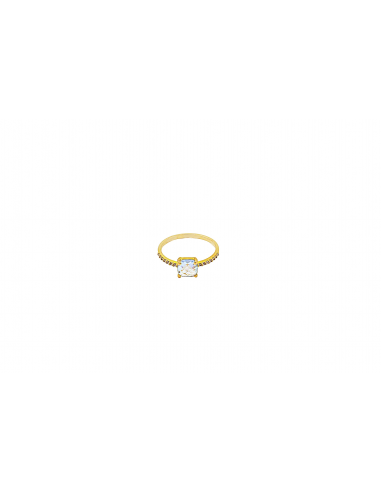 Auksinis žiedas su topazu