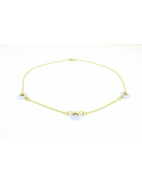 Geltono aukso grandinėlė su baltu oniksu pardavimui internetu