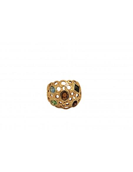 Auksinis žiedas su cirkonais pardavimui internetu
