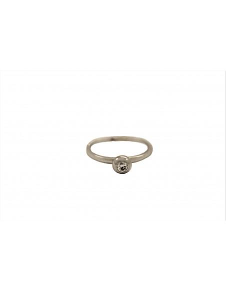 Auksinis žiedas su briliantu pardavimui internetu
