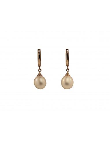 Auksiniai auskarai su kultivuotais perlais pardavimui internetu