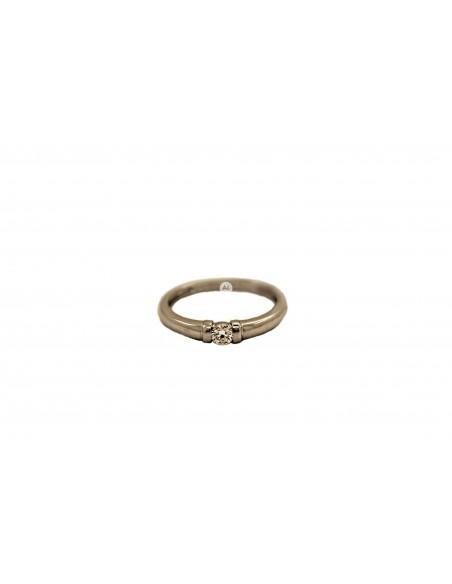 Auksinis sužadėtuvių žiedas su briliantu pardavimui internetu