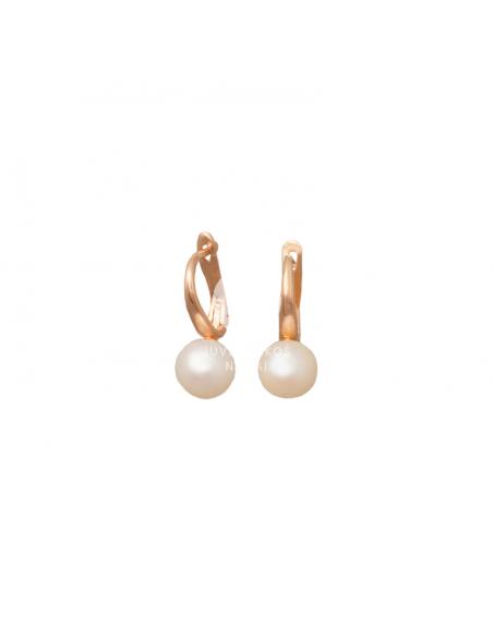 Auksiniai auskarai su perlais pardavimui internetu